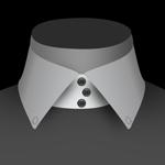 Un col boutonné de chemise pour homme