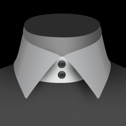 Un col 2 boutons de chemise pour homme