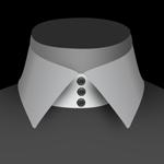 Un col 3 boutons alignés de chemise pour homme