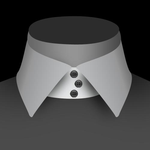 Un col 3 boutons décalés de chemise pour homme