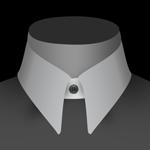 Un col anglais de chemise pour homme