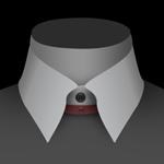 Un col relié de chemise pour homme