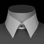 Un col standard de chemise pour homme