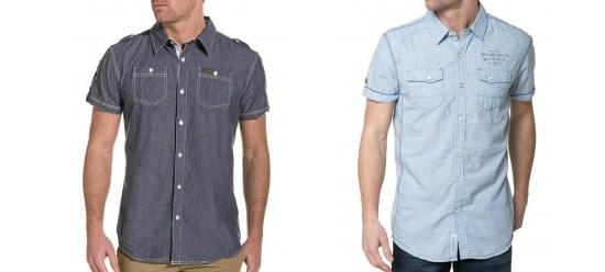 Chemises en Jeans manches courtes